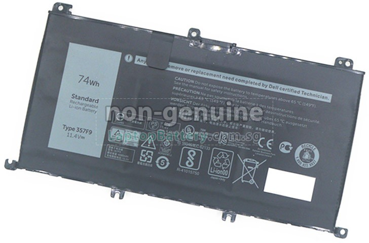 Battery for dell p65f replacement dell p65f laptop battery from singapore 74wh 3 cells for Dell inspiron i7559 7512gry interior design laptop